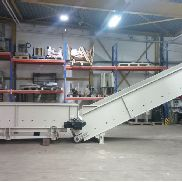Avermann Gleitgurtförderband above floor, completely refurbished, type AVOS, working width 1,400 mm