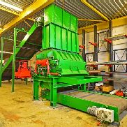 ZENO ZHM 1000/2000 x 700 hammer mill, outdated, built in 2002, driving power 200 kW, with supply and discharge conveyor