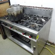 Gas stove, 6x cooktops