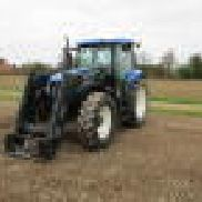 New Holland TS115A tractor + trima frontlsser / tractor + cargador frontal
