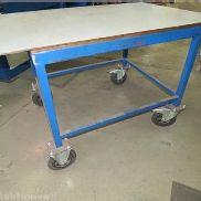 Mobile work table with brake, Size: 1300 x 880 mm