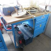 Mobile workshop with extensive hand tools and metal toolbox