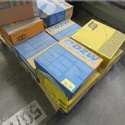 16 cartons welding wires for Mig Mag-welding ESAB and DZW, incl. Pallet
