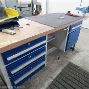 Worktable with mehrschichtverleimter countertop, without content
