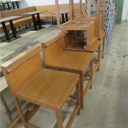 12 pcs. High chairs made of wood, H: 600 mm