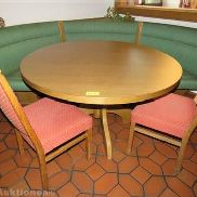 Wooden dining table, round