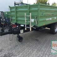 Brantner single-axle three-way dumper bale collecting wagon