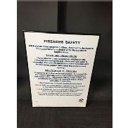 Firearms Safety Poster / From Falcons Locker Room / This item includes Georgia Dome Authentication