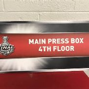 "Stanley Cup Playoffs 2009 ""Main Press Box 4th Floor"" Sign, 24 in. w x 12 in. h Located:"