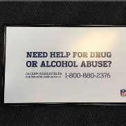 Need Help for Drug Abuse Sign / From Falcons Locker Room / This item includes Georgia Dome