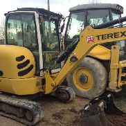Mini Diggers TEREX TC37 used