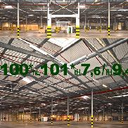 -hbs10200s5- Warehouse 100x101x7m Steel hall from demolition