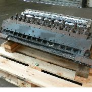 800 mm Simplas sheet die model 0.2-2, 2-4mm, choke bar, rack and pinion side deckles
