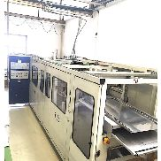 740mm x 500mm Illig RV 74 vacuum forming machine. 120-40mm draw. Top and bottom heaters. Moving bottom platen. 2001