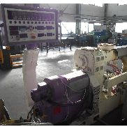 80mm 30D Leistritz compounding line, with spaghetti head, water bath and Rieter Primo 60E pelletiser.1996