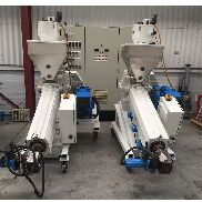 2 X 50 mm Davis Standard / Repiquet Co-extrudeurs Common Drive And Temp Panel. 1995