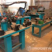 Assembly and welding line for train bogie
