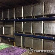 Lot with pallet storage racks