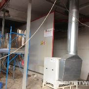 coating plant for window and door frames