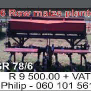 6 Row Planter Maize Planters