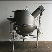 Giusti 500L Stainless hemispherical scrape surface steam jacketed process vessel