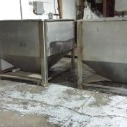 Stainless Steel Square Dry Material Holding Bin - 78392