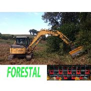 TE 120 P REV FORESTAL wood shredder head for mini excavator between 8 and 16T