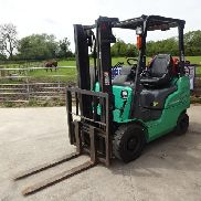 2005 MITSUBISHI FG15N 1.5t gas driven forklift truck S/n: 12012 with duplex clear view mast & side-shift