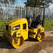 2017 CAT CB24B Double Drum Vibrating Roller c/w Roll Bar (3 Hours)