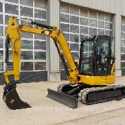 2008 CAT 304CCR Mini Excavator c/w Enclosed Cab, Rubber Tracks, Backfill Blade, Swing Boom, QC, Hydraulics - CAT0304CTFPK03818