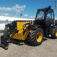 2014 CAT TH414C Turbo Telehandler, Cab, 8,000lb Max. Lift Capcity, 44' Max. Lift Height, QH, Joystick Controls, Sway, WLI, Forks (LOW METER HOURS) (700 Hours)