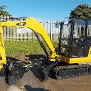 2011 CAT 302.5C Mini Exkavator, Kabine, Gummi Tracks, Backfill Klinge, Swing Boom, QC, Hydraulik c / w 3 Eimer - CAT3025CJGBB05832