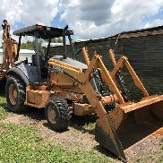 2005 Case 580M 4x4 Backhoe Loader c/w Open ROPS Cab - N4C382317