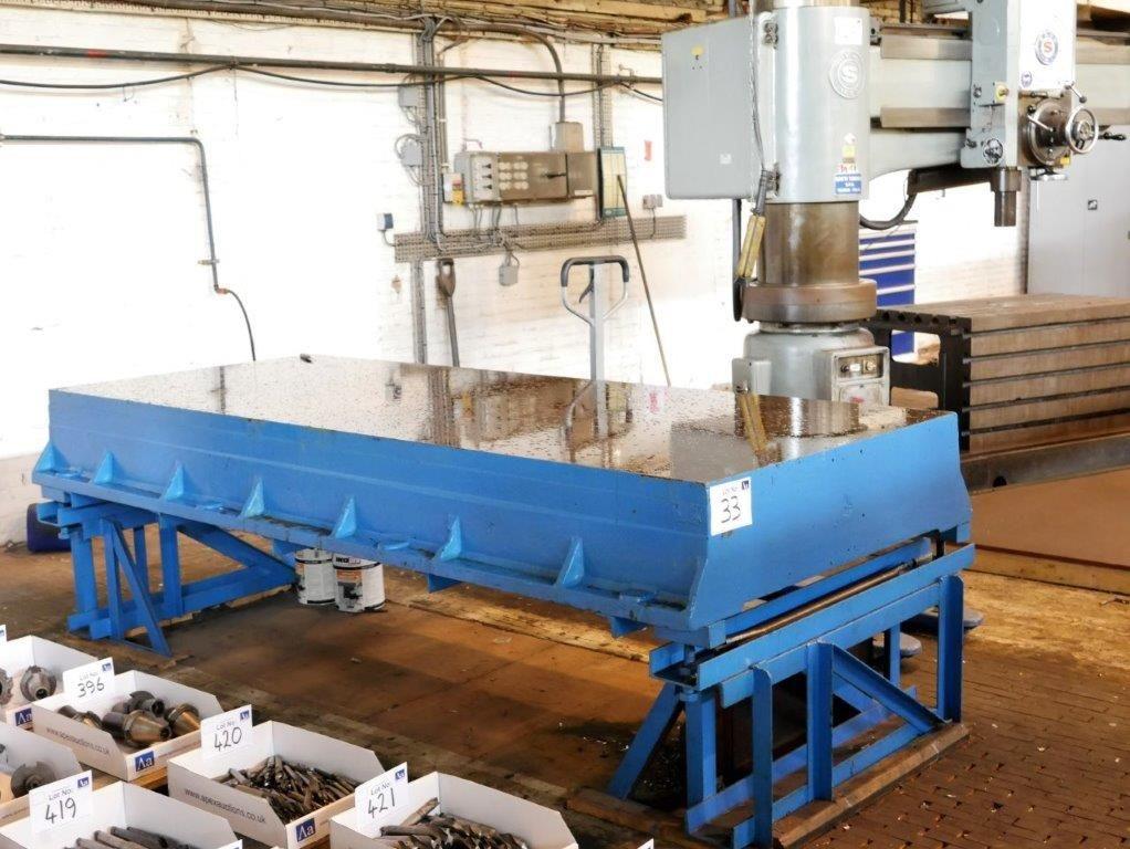 Gusseisen-Oberflächenplatte auf Stahl fabriziertem Rahmen