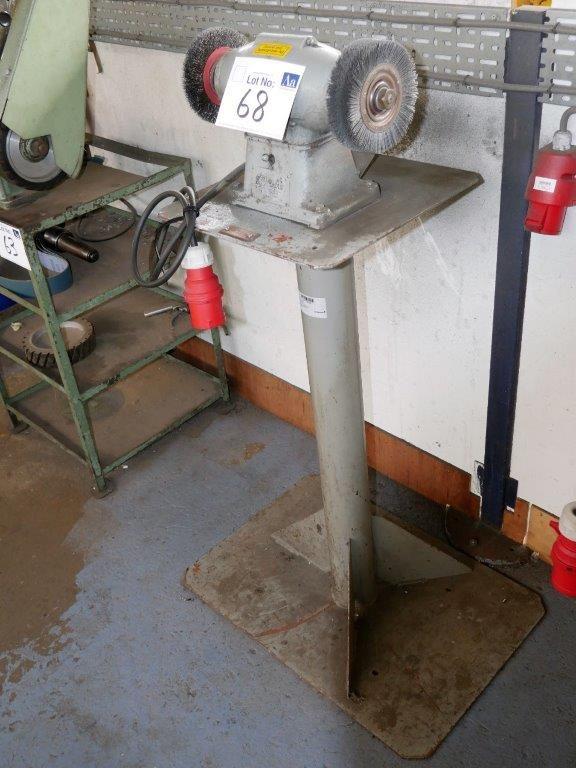 Doppelseitiger Silex-Polierer auf Stahlständer