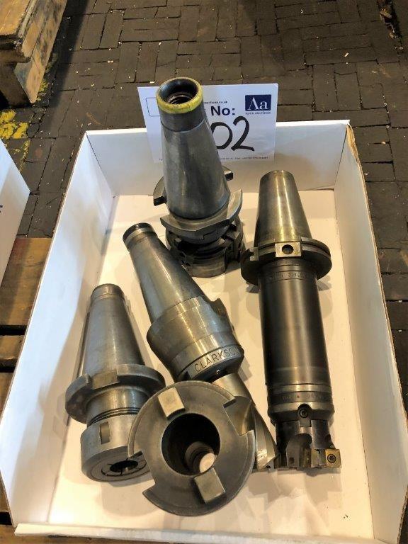 5 ISO 50-Werkzeughalter mit Werkzeug