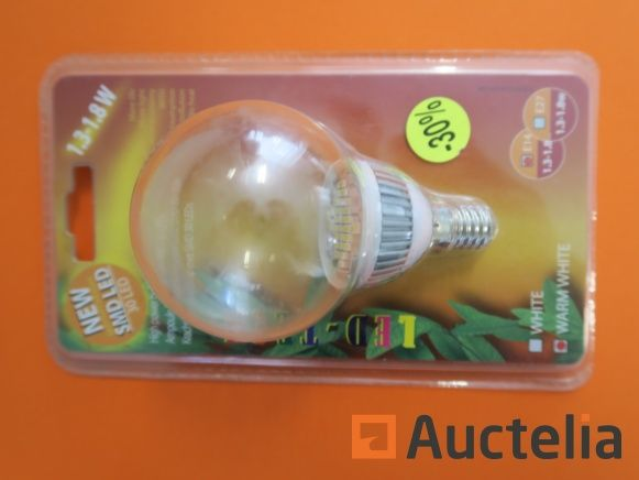 100 Hochleistungslampen LED-TECH E14 SMD 30 Leds 1,3-1,8 W Warmweiß
