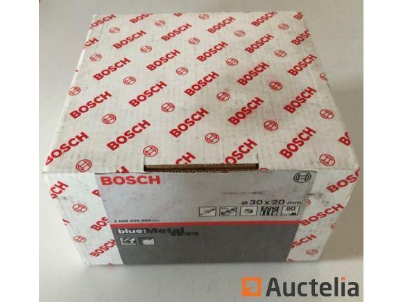 2 Pakete von Schleif Bosch Durchmesser 30X20 mm, Körnung 60