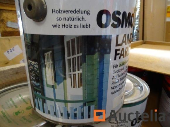 11 farbige weiße Osmo-Töpfe (2101) für Holz en 2,5 l
