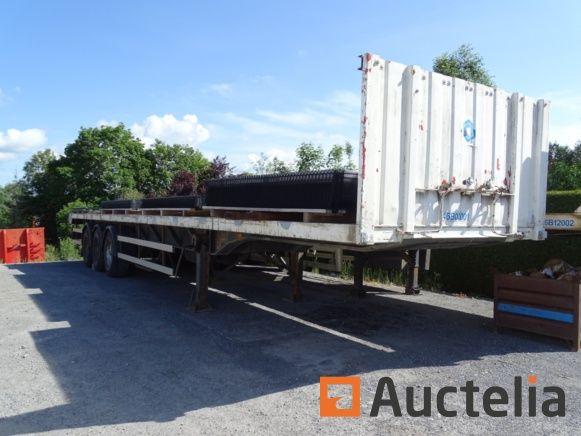 Anhänger-Halbschale, dreifache pneumatische Achse, funktionsfähig (+ Funktion Transportspulen)