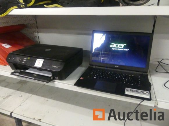 HP Envy 4500-Drucker, Acer-Notebook-PC (1595-009)