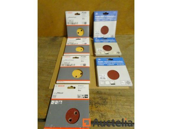50 Bosch- und HAWE-Klettpapiere für Exzenterbandschleifer