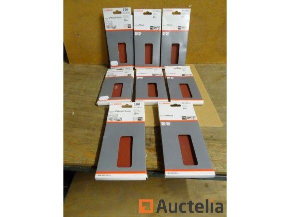 80 Bosch Klettpapiere für Vibrationsbandschleifer