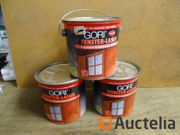 3 Gläser Kiefer GORI 2, 5l wetterfest für Holz
