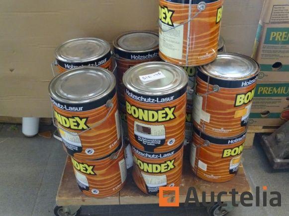 13 Bondex 2,5 l Gläser für Holz (verschiedene Farben)