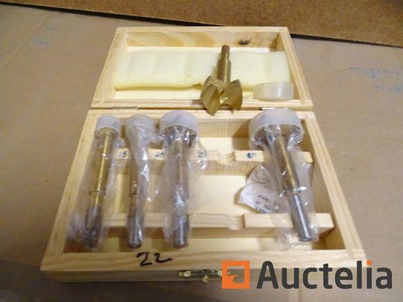 5 Bohrer Holzstopper in Kinzo-Box