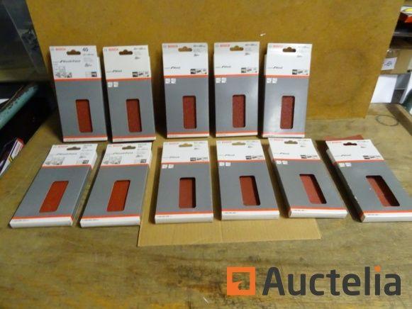 110 Bosch Klettpapiere für Vibrationsbandschleifer