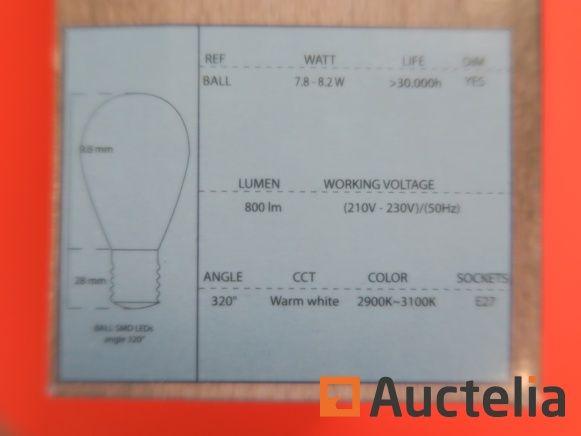 45 LED-TECH SMD-Lampen E14 1,9 Watt 120 Lumen Winkel320 °