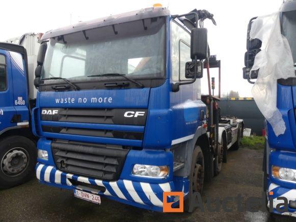 Containerfahrzeug DAF CF (2003) mit Kran Palfinger PK24502 - Matis: 7642