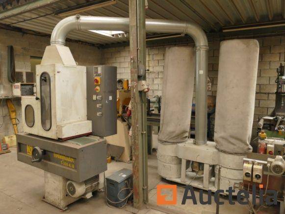 Vangroenweghe T-300-KB Bandschleifer Schwanenhals-Bürstmaschine avec 2 Behältern Späneabsaugung